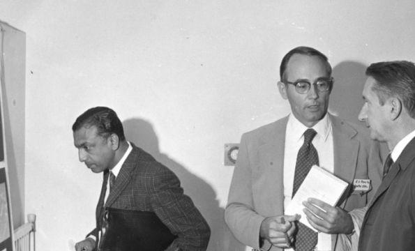 C.V. Subramania (left), E.S. Beneke